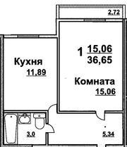 Продаю 1-комнатную квартиру в новостройке,  Луговое