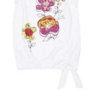 Легкая футболка оригинального кроя для девочек!